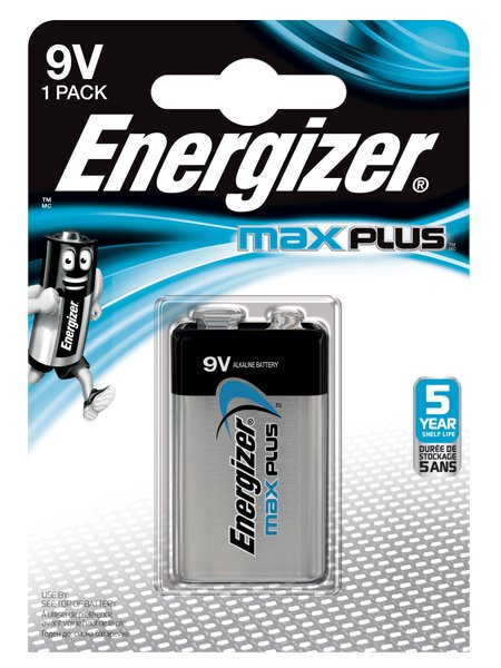 9V Energizer Max Plus 9V Single