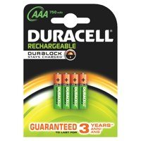 AAA Duracell Plus Power AAA Rechargeable Batteries PK4