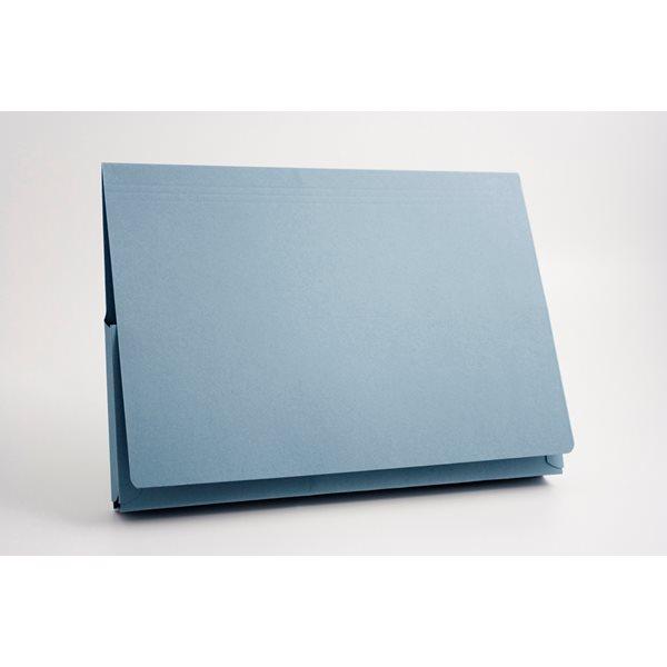 Document Wallets Guildhall Super Heavyweight 14x10 Flap Wallet Blue PK25