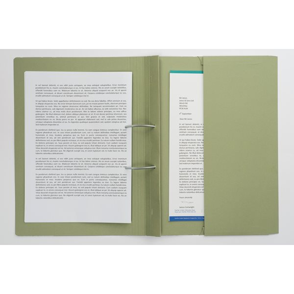 Guildhall Heavyweight Pocket Spiral File Foolscap Green PK25