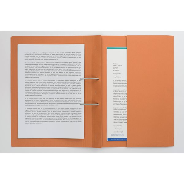 Document Wallets Guildhall Heavyweight Pocket Spiral File Fscap Orange PK25
