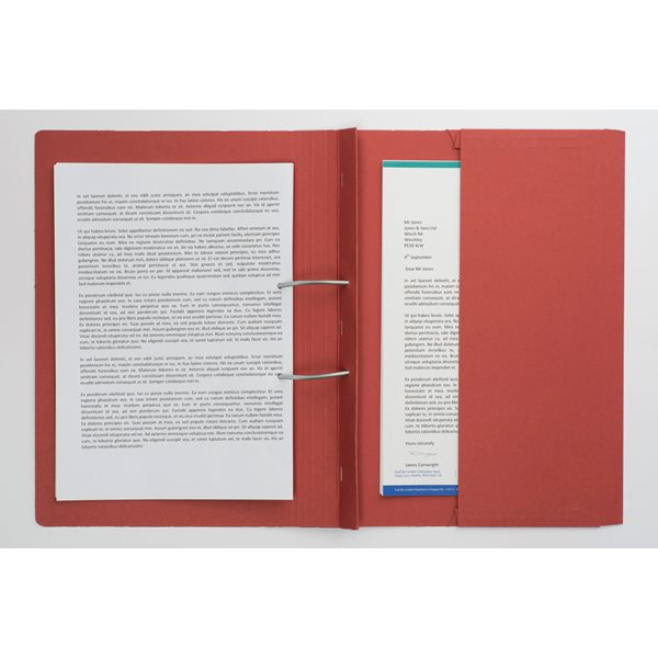 Guildhall Heavyweight Pocket Spiral File Foolscap Red PK25