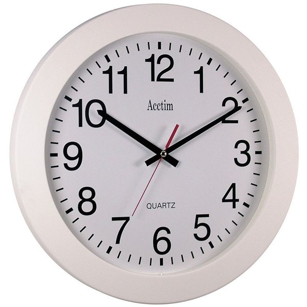 Acctim Controller Wall Clock 36.8cm White