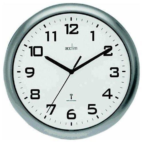 Acctim Cadiz RC Wall Clock 25.5cm Silver 74137