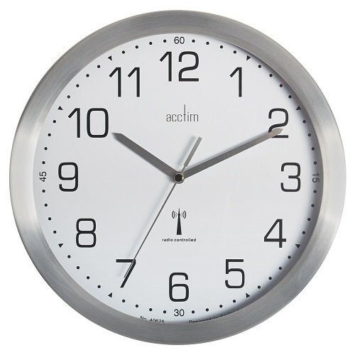 Wall Acctim Mason RC Wall Clock 25cm Aluminium 74337