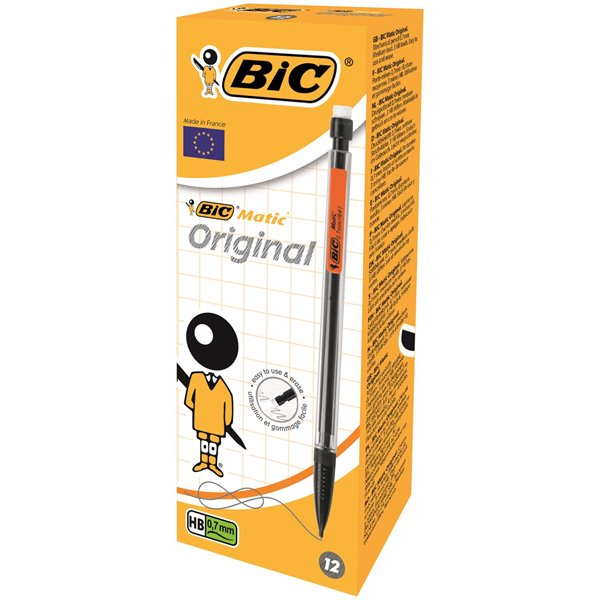 Bic Matic Classic Auto Pencil 0.7mm Assorted PK12