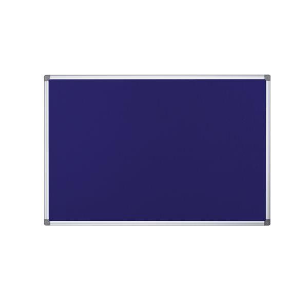 Bi Office Blue Felt Notice Board 2 Sided 900 x 900mm