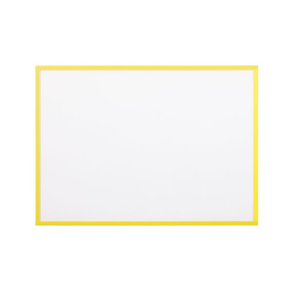Display Panels Bi Office Adhesive Document Holder Yellow A4