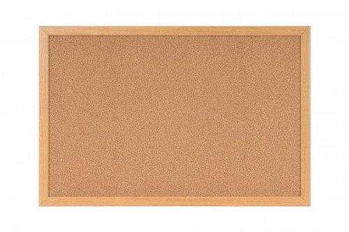 Bi-Office Earth-It Cork Notice Board 90x60cm Frame
