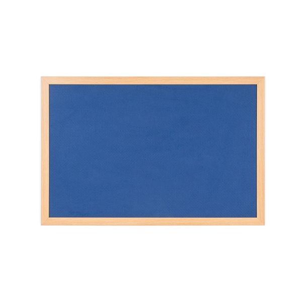 Bi-Office Earth-It Blue120x90cm oak wood frame 32 mm frm