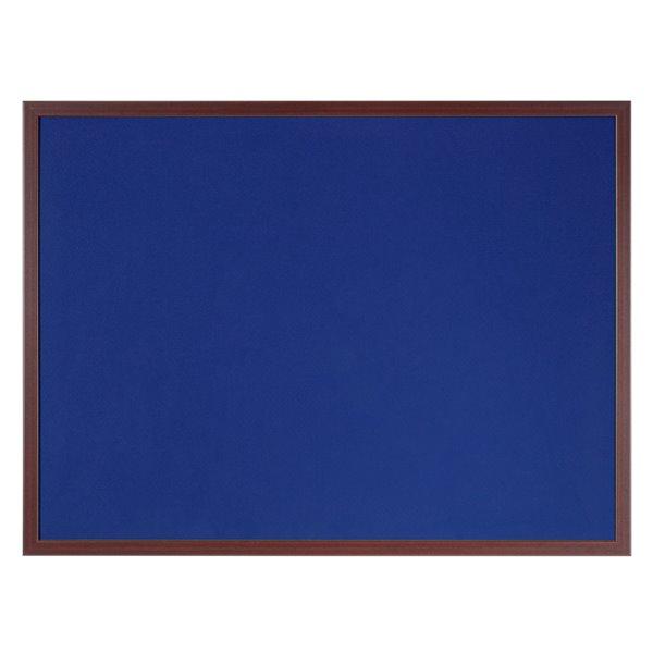 Bi-Office Earth-It Blue Felt 120x90cm cherry wd 32 mm frm