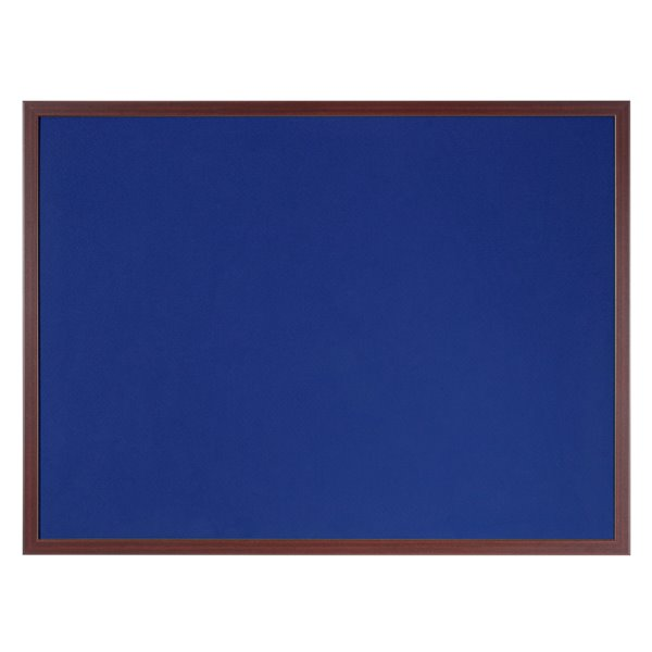 Felt Bi-Office Earth-It Blue Felt 180x120cm Cherry Wood 32 mm