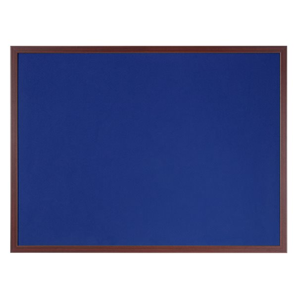 Felt Bi-Office Earth-It Blue felt 240x120cm Cherry Wood 32 mm