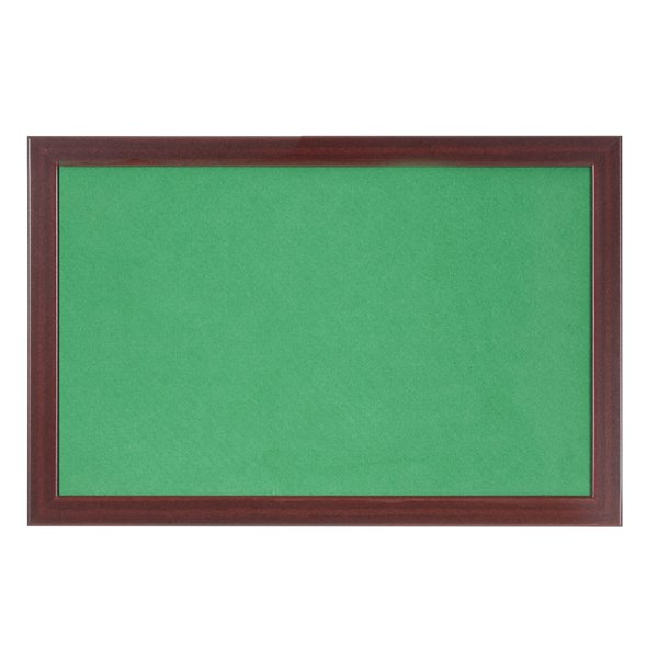 Felt Bi-Office Earth-It Green Felt 180x120cm Cherry Wood 32 mm