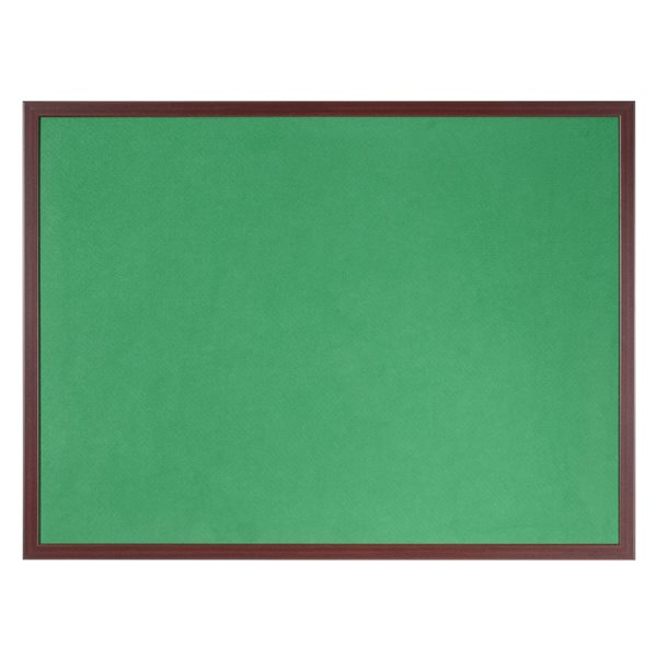 Felt Bi-Office Earth-It Green felt 240x120cm Cherry Wood 32 mm