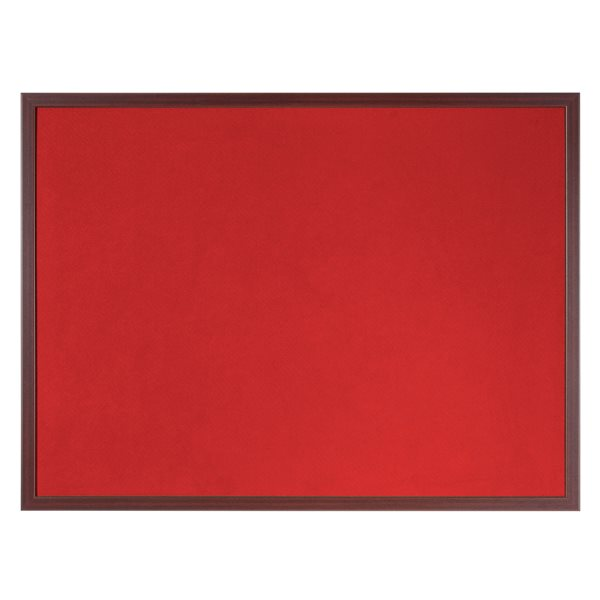 Felt Bi-Office Earth-It Red Felt 180x120cm Cherry Wood 32 mm