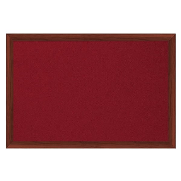 Felt Bi-Office Earth-It Red felt 240x120cm Cherry Wood 32 mm
