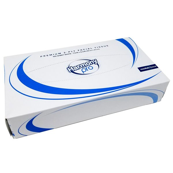 Facial Tissues Harmony Professional 2ply White Facial Tissue 100sheets PK35