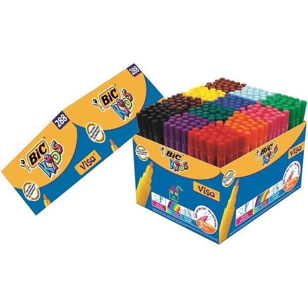Bic Kids Visa Colouring Pens (Pack 288)