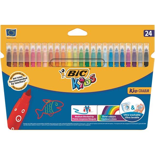 Colouring Pens Bic Kids Couleur Colouring Felt Pens PK24