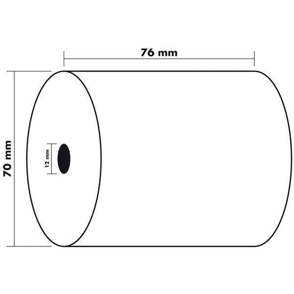 Tally Rolls Thermal Rolls BPA Free 1ply 55g 76x70x12mm 60m PK10