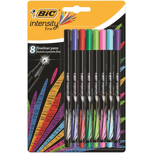 Colouring Pens Bic Intensity Fine Assorted PK8