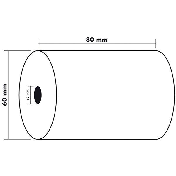 Tally Rolls Thermal Rolls BPA Free 55g 80x60x12mm 44m PK10