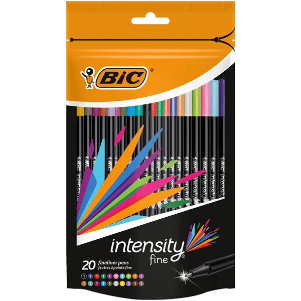 Colouring Pens Bic Intensity Fine Assorted PK20