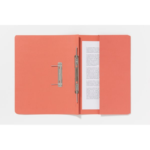 Guildhall Pocket Spiral File Foolscap 285gsm Orange PK25
