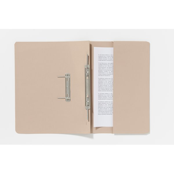 Guildhall Pocket Spiral File Foolscap 285gsm Buff PK25