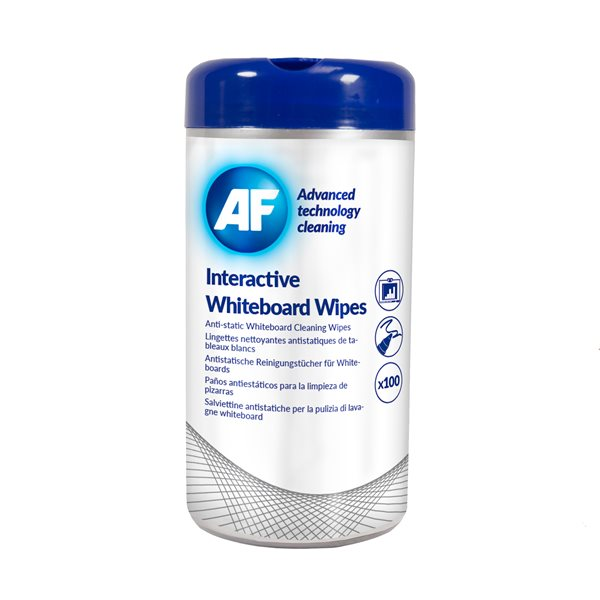 Cleaning / Erasing AF Interactive Whiteboard Wipes Tub of 100