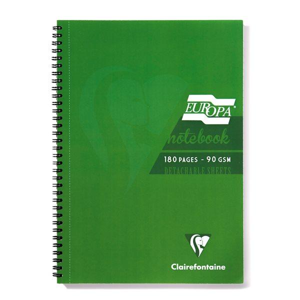 Europa A5 Sidebound Notebook Green PK5