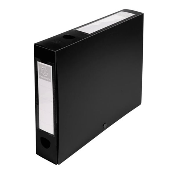 Exacompta Stud Filing Box A4 60mm Spine Black