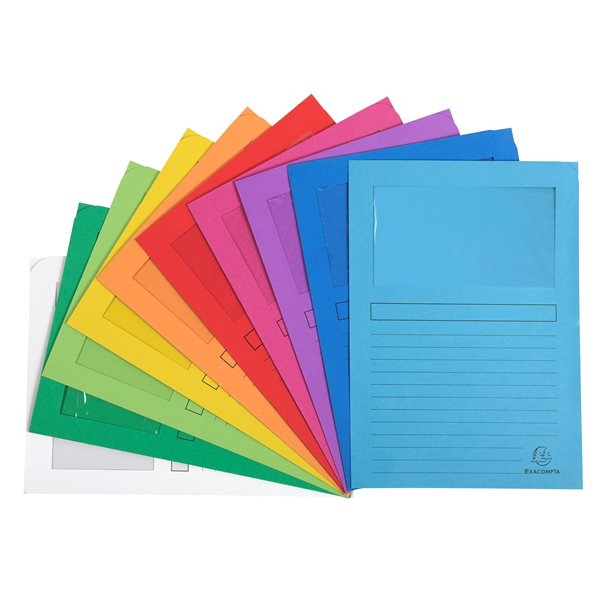 Forever Window Folder A4 Assorted PK100