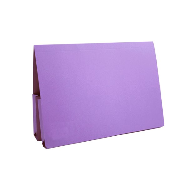 Square Cut Folders Guildhall Double Pocket Legal Wallet Mauve PK25