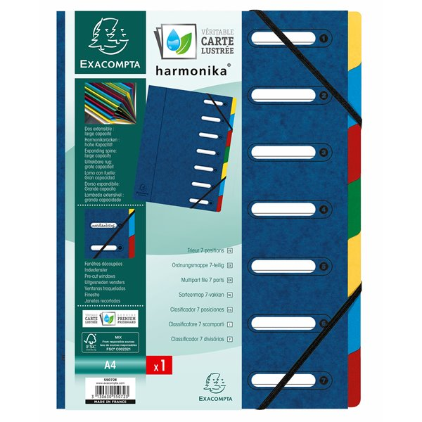 Exacompta Harmonika 7 Part Multifile Blue