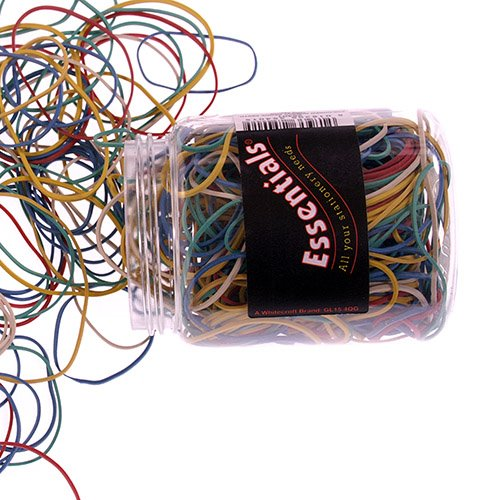 Rubber Bands Value Rubber Bands Asstorted Colours and Sizes 75g
