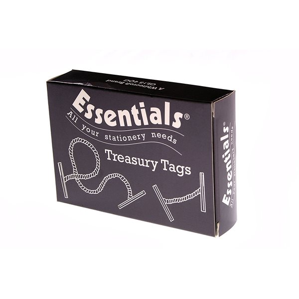 Value Treasury Tag Plastic 25mm Box 100