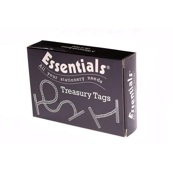 Value Treasury Tag Plastic 76mm Box 100