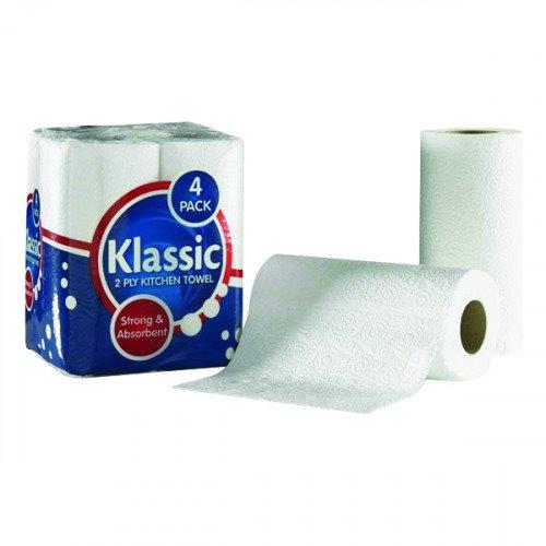 Value 2Ply White Kitchen Towel PK24