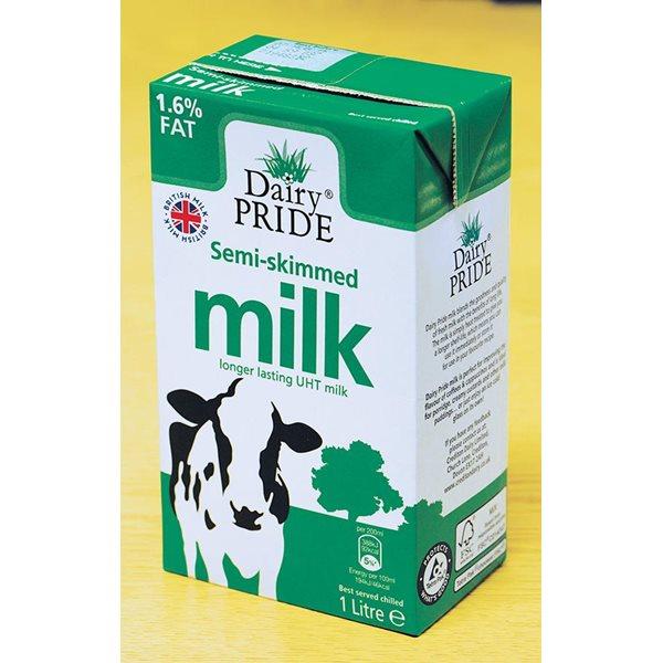 Semi Skimmed Milk 1 Litre PK12