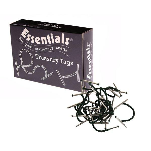 Value Treasury Tag Metal 38mm Box 100