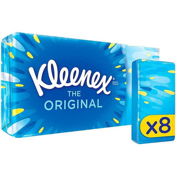 Facial Tissues Kleenex Original Pocket Pack 8s (PK18)