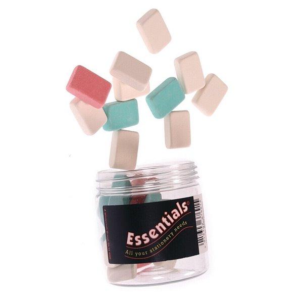 Erasers Value Eraser Assorted Colours PK25