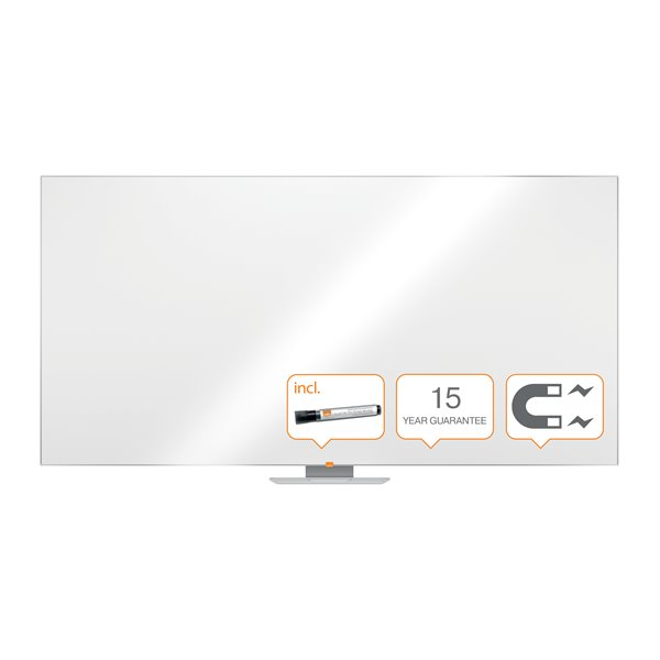 Magnetic Nobo Classic Steel Magnetic Whiteboard 2400x1200mm