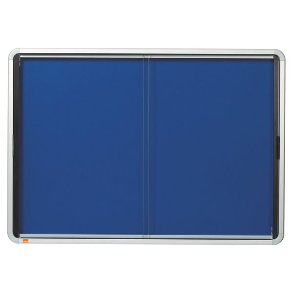 Nobo Internal Glazed Case Sliding Door Felt Blue 8xA4