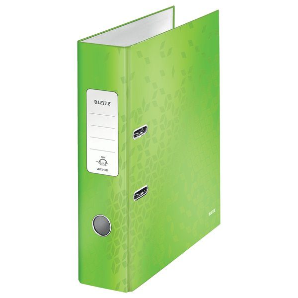 Leitz 180 WOW Lever Arch File A4 80mm GN PK10