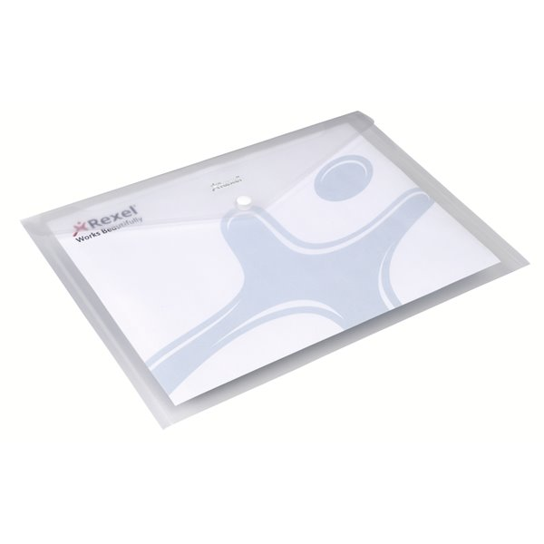 Rexel ICE Document Wallet A4 Clear PK5