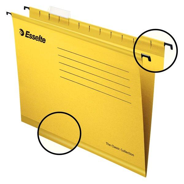 Suspension File Esselte Classic Suspension File A4 Yellow PK25