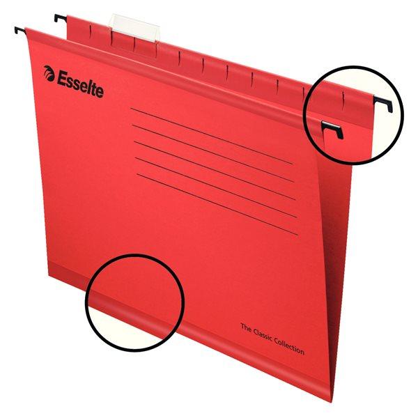 Suspension File Esselte Classic Suspension File A4 Red PK25